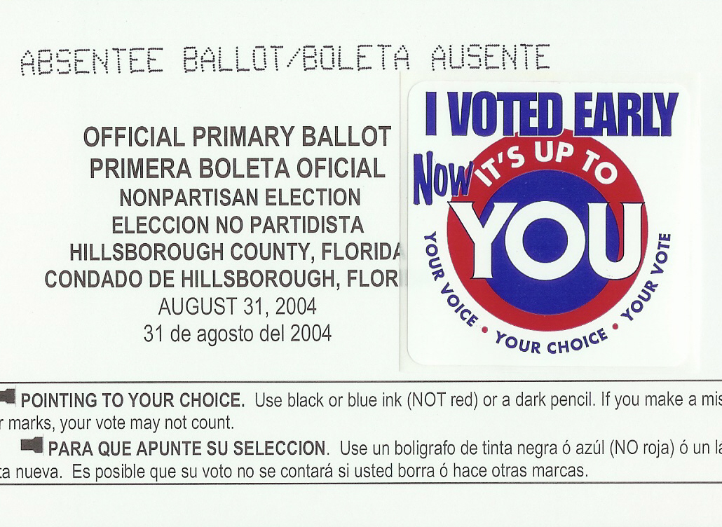 Want your vote to count?  Vote absentee.