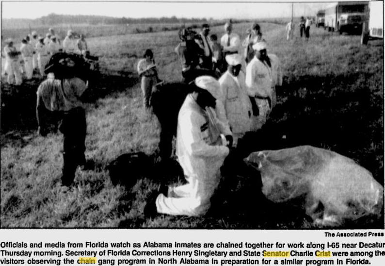 Shackled prisoners Alabama 1995